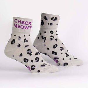 Check Meowt Cuff Socks