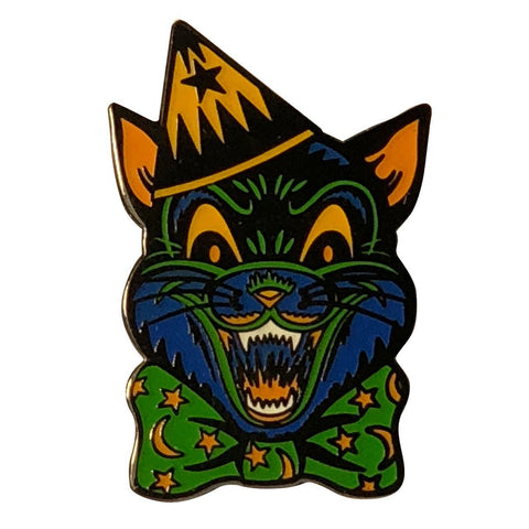 Crazy Cat Halloween Pin