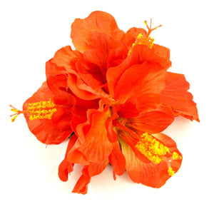 Large Red Hibiscus Hair Flower - Cats Like Us