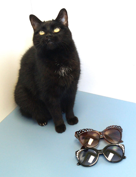 Black Bling Round Sunglasses - Cats Like Us