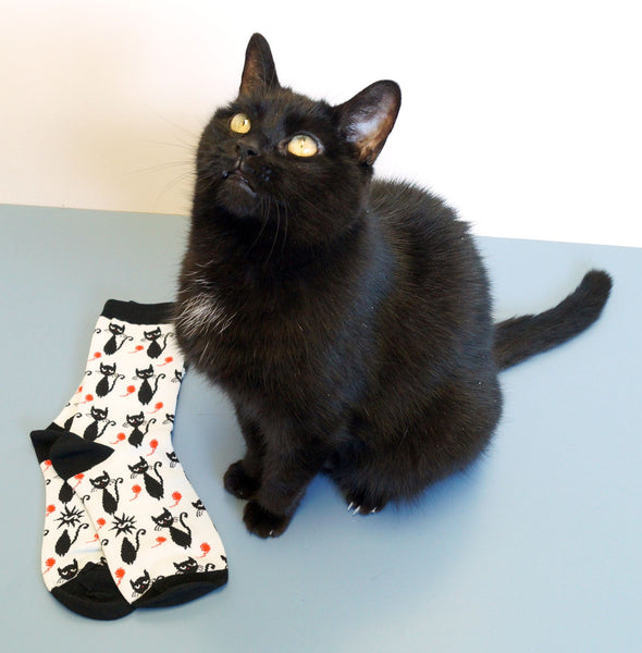Black Cats Crew Socks by Sock It to Me - Cats Like Us