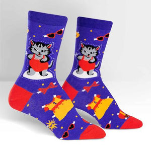 Dress Up Paper Doll Kitty Socks