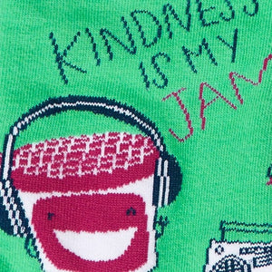 Kindness is My Jam Crew Socks
