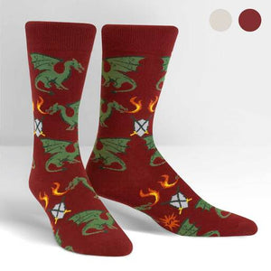 Beware of Dragons Crew Socks
