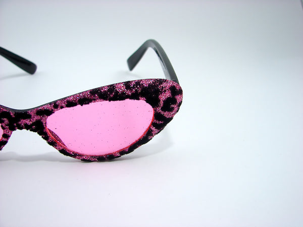 Cruisin USA Pink Fuzzy Leopard Sunglasses for sale at Cats Like Us - 3