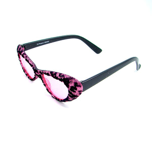 Pink Fuzzy Leopard Sunglasses by Cruisin USA