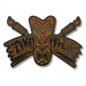 Tiki Freak Pin
