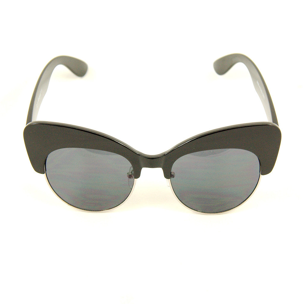 Black Sass Cateye Sunglasses by AJ Morgan : Cats Like Us