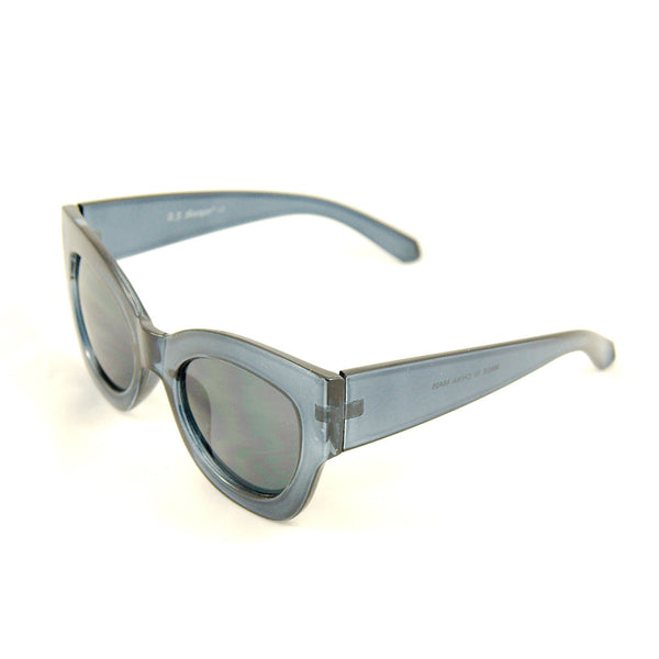 Blue Clear Maxi Taxi Sunglasses - Cats Like Us