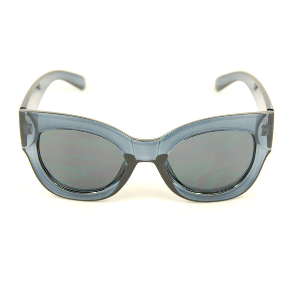 Blue Clear Maxi Taxi Sunglasses