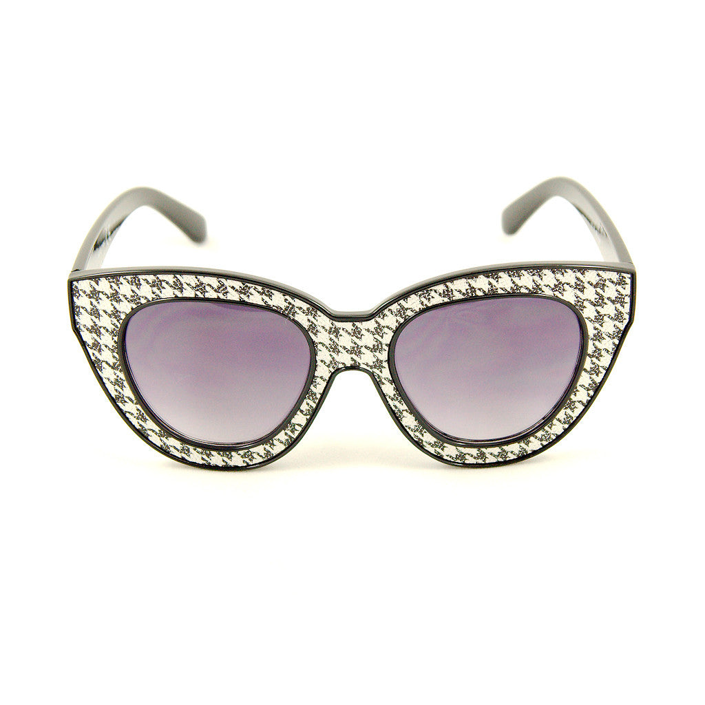 Houndstooth Missy Sunglasses by AJ Morgan : Cats Like Us