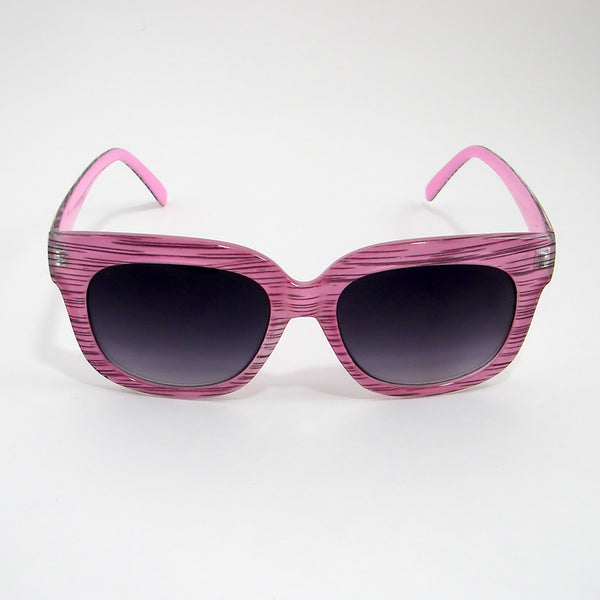Pink Stripe Charmer Sunglasses