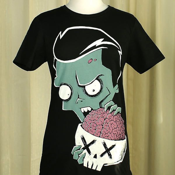Zombies Eat Brains T by Akumu Ink : Cats Like Us
