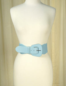 Baby Blue Pinup Cinch Belt - Cats Like Us
