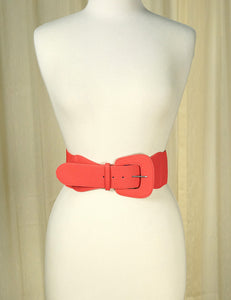 Coral Pinup Cinch Belt - Cats Like Us