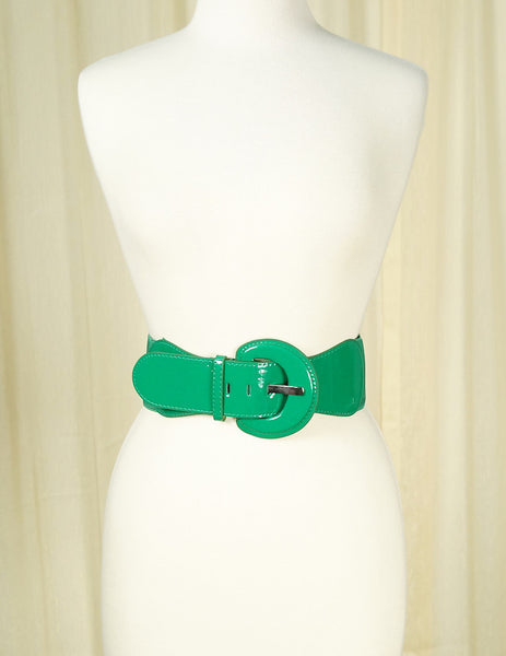 Green Elastic Cinch Belt by Apple Accessories : Cats Like Us