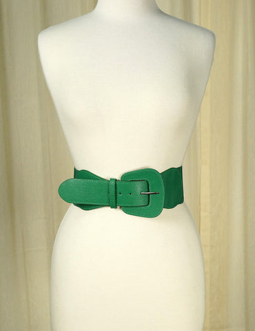 Green Pinup Cinch Belt - Cats Like Us