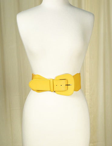 Mustard Pinup Cinch Belt by Apple Accessories : Cats Like Us
