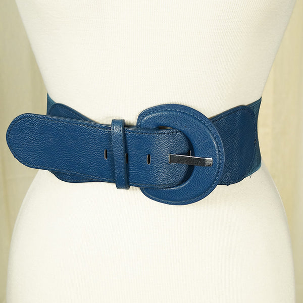 Navy Blue Cinch Belt - Cats Like Us