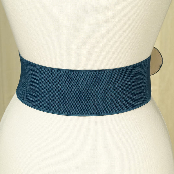Navy Blue Cinch Belt by Apple Accessories : Cats Like Us