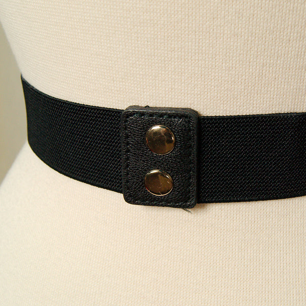 Apple Accessories Thin Black Swirl Cinch Belt for sale at Cats Like Us - 5