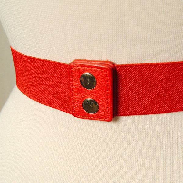 Apple Accessories Thin Red Swirl Cinch Belt for sale at Cats Like Us - 4