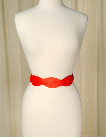 Apple Accessories Thin Red Swirl Cinch Belt for sale at Cats Like Us - 1
