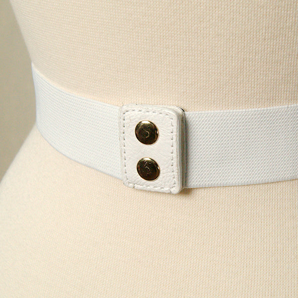 Apple Accessories Thin White Swirl Cinch Belt for sale at Cats Like Us - 5