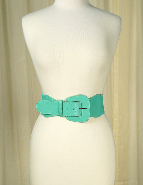 Apple Accessories Turquoise Pinup Cinch Belt for sale at Cats Like Us - 1