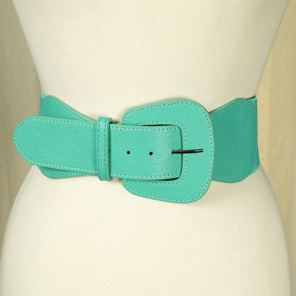 Turquoise Pinup Cinch Belt - Cats Like Us