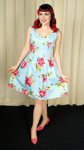 Sweetheart Floral Dress - Cats Like Us
