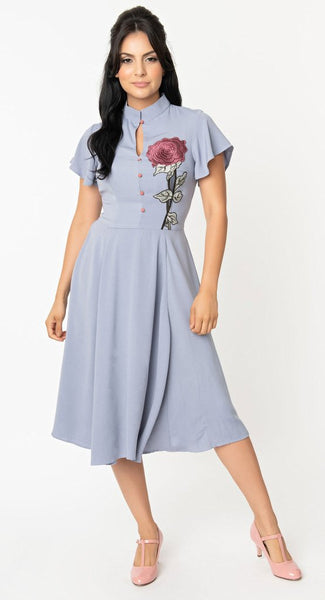 Lavender Baltimore Floral Dress - Cats Like Us