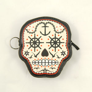 Prime Time Skull Coin Purse - Cats Like Us