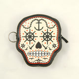 Banned Apparel Prime Time Skull Coin Purse for sale at Cats Like Us - 1