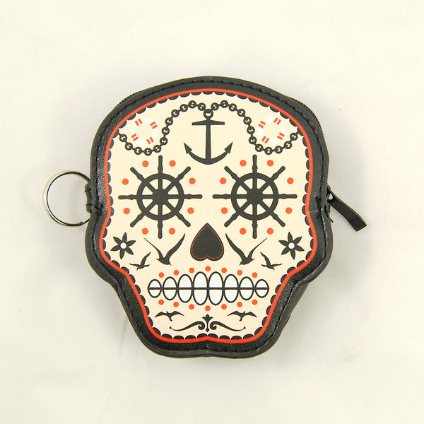 Prime Time Skull Coin Purse