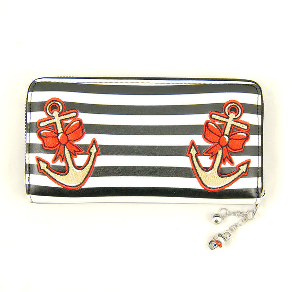 Banned Apparel Sleepless Nights Anchor Wallet for sale at Cats Like Us - 1