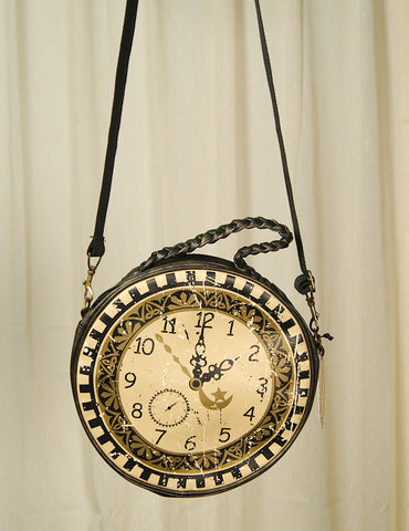 Times Flies Clock Messenger Bag - Cats Like Us