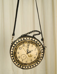 Times Flies Clock Messenger Bag