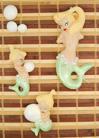 Lime Blonde Baby Mermaid Set by Barbie K : Cats Like Us