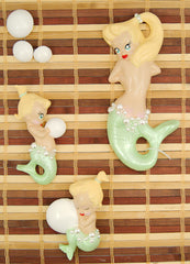 Lime Blonde Baby Mermaid Set
