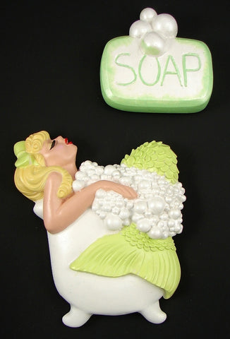 Lime Blonde Bathing Beauty by Barbie K : Cats Like Us