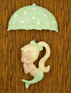 Lime Blonde Umbrella Mermaid by Barbie K : Cats Like Us