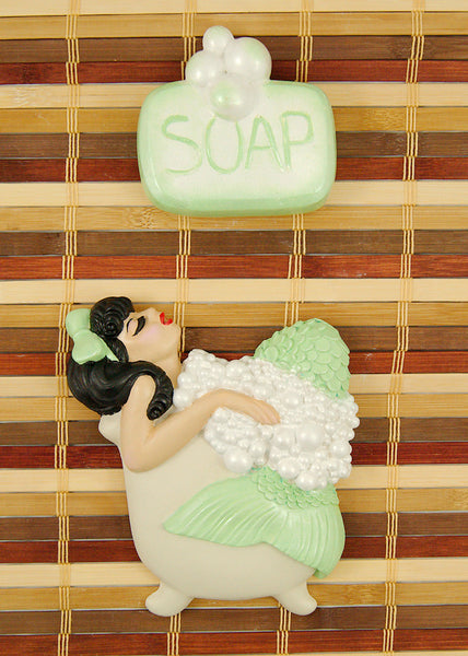 Lime Brunette Bathing Beauty by Barbie K : Cats Like Us