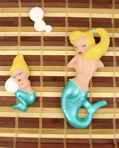 Metallic Aqua Blonde Mermaid by Barbie K : Cats Like Us