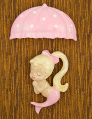 Pink Blonde Umbrella Mermaid