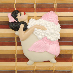 Pink Brunette Bathing Beauty by Barbie K : Cats Like Us