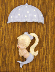 Purple Blonde Umbrella Mermaid