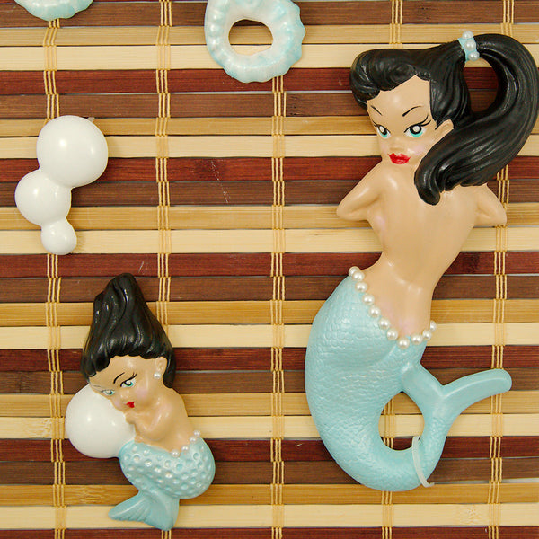 Barbie K Sky Blue Brunette Mermaid Deluxe for sale at Cats Like Us - 1