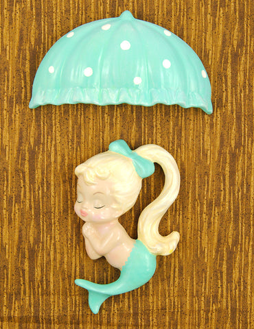 Turq Blonde Umbrella Mermaid by Barbie K : Cats Like Us