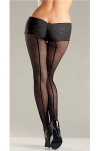 Black Fishnet Back Seam Shorts by Be Wicked : Cats Like Us